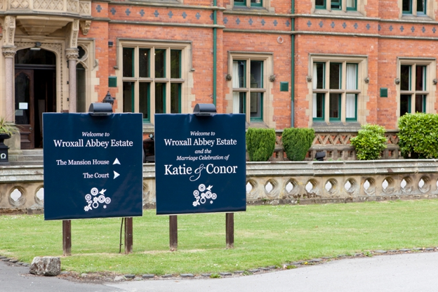 Wedding at Wroxhall Abbey in Warwickshire