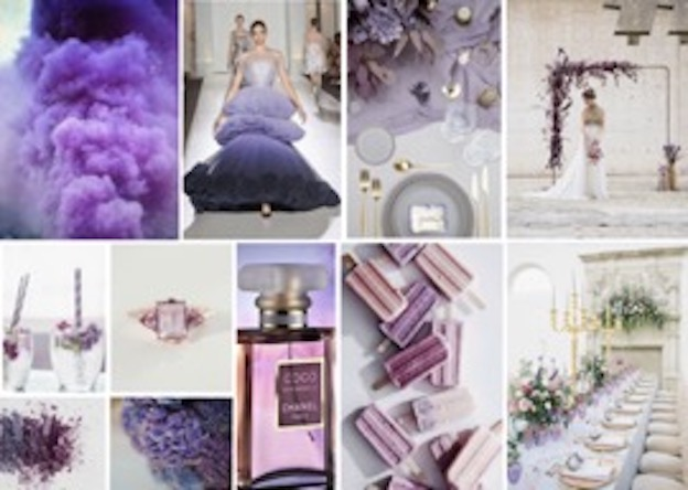 Pantone Colour of the Year Ultra Violet Moodboard Wedding Inspiration